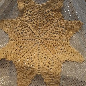 Hand Crocheted Pointed Star Doily 13""